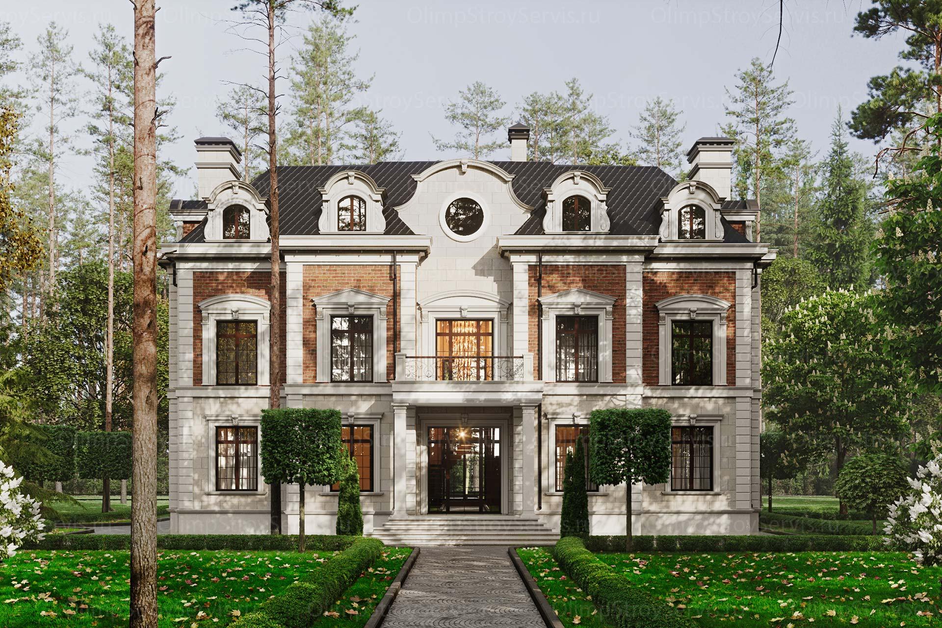Двухэтажный дом с мансардным этажом в КП Миллениум Парк | Индивидуальный проект