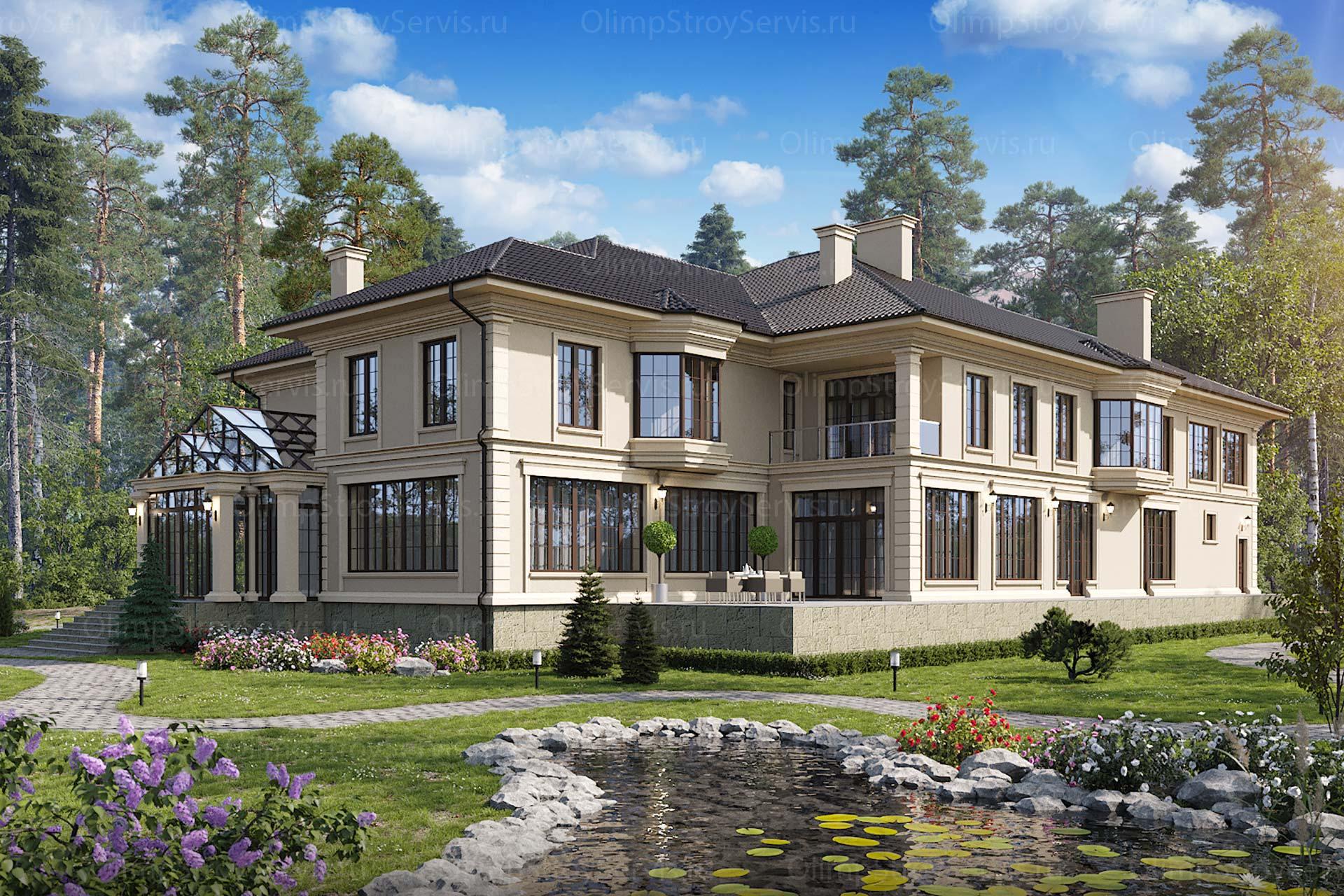 Классический двухэтажный дом по каширскому шоссе | Индивидуальный проект
