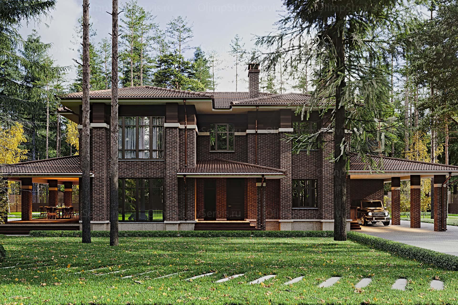Двухэтажный дом в стиле Райта | КП Руза Фэмили Парк
