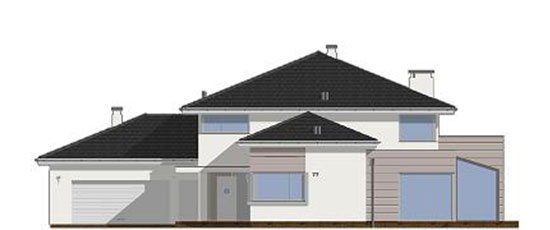 Фасад проекта виллы OS-482 | Ракурс №1