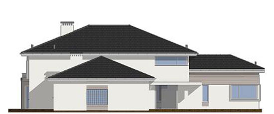 Фасад проекта виллы OS-482 | Ракурс №3
