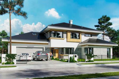 """Большой двухэтажный дом в стиле """"Модерн"""""""