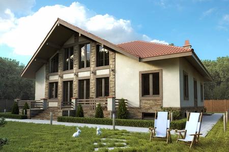 Современный дом с цокольным этажом