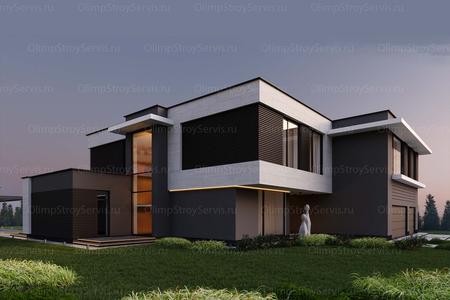 Большой дом с плоской крышей «Лубер» | Проектирование и строительство