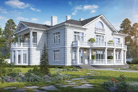 Двухэтажный дом с мансардой «Сендин»