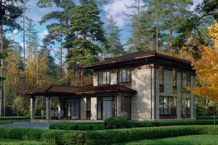 Дом с комбинированным фасадом «Глазго»