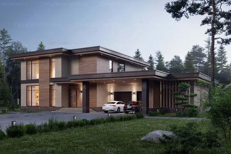 Современный дом с плоской крышей Телфорд