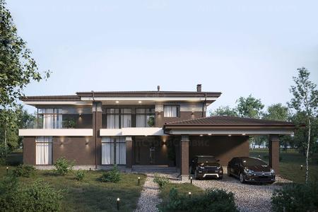 Дом с фасадом из клинкерного кирпича «Белмонт»