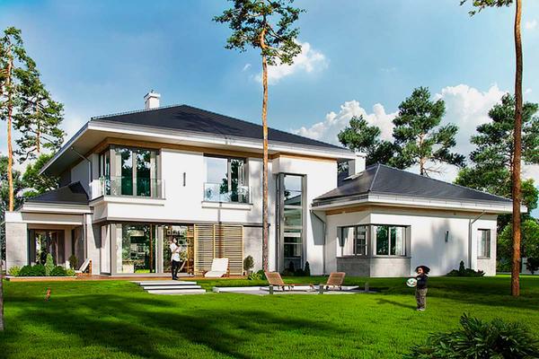 """Большой двухэтажный дом в стиле """"Модерн"""" фото"""