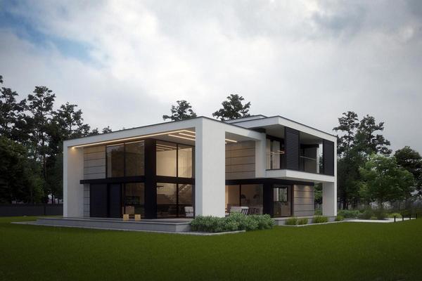 Современный дом с гаражом проектирование и строительство