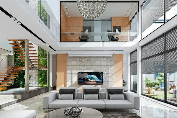 Большая загородная резиденция дизайн интерьера