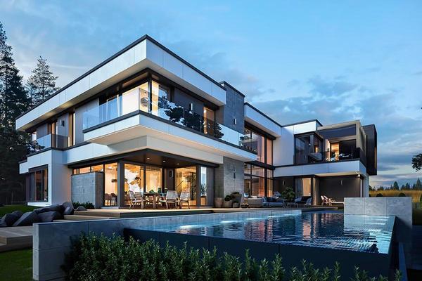 Большая загородная резиденция проектирование