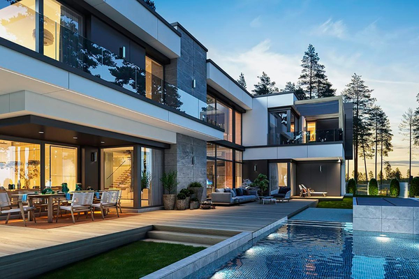 Большая загородная резиденция строительство