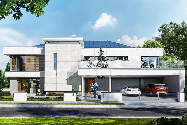 Двухэтажная резиденция проект