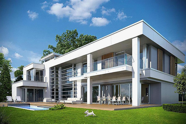 Двухэтажная резиденция проектирование
