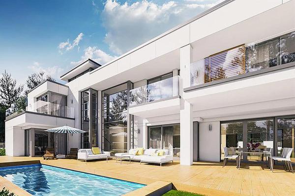 Двухэтажная резиденция строительство