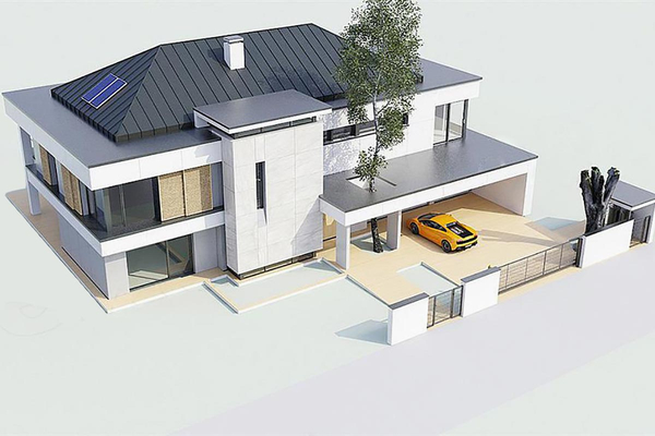 Двухэтажная резиденция построить