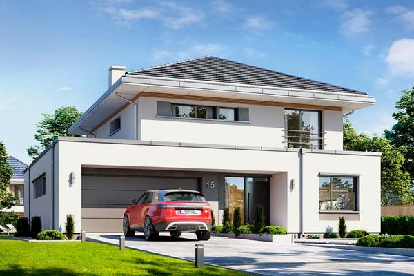 Двухэтажная вилла со встроенным гаражом