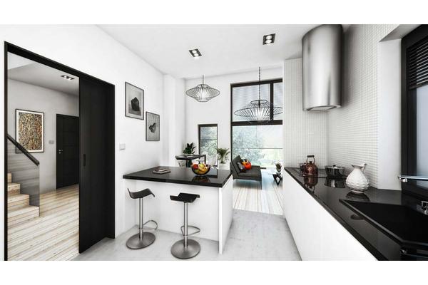Двухэтажный коттедж в стиле Хай-Тек | Строительство