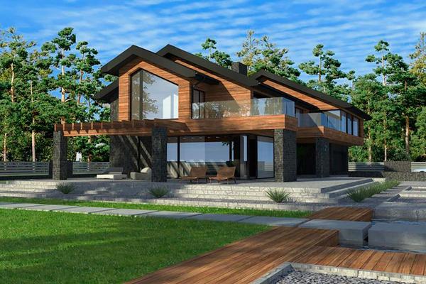 Резиденция в стиле Шале | Строительство