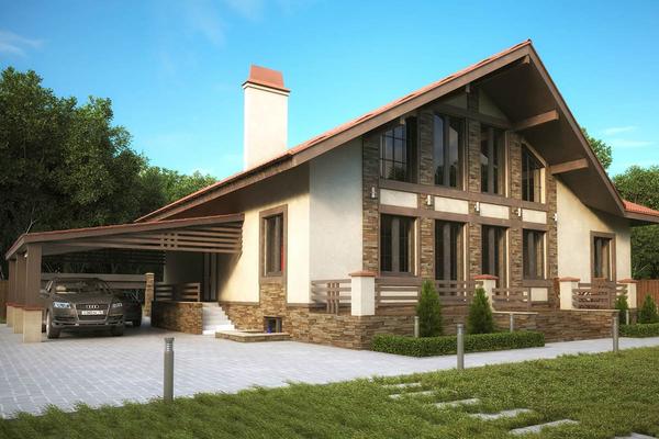 Современный дом с цокольным этажом фото