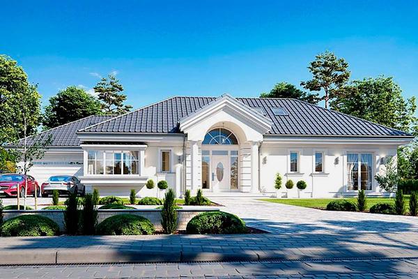 Вилла в стиле американская классика строительство