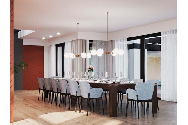 Большая резиденция в стиле Хай-Тек | Гослар дизайн интерьера фото №11