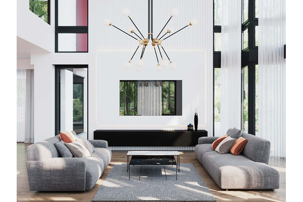 Большая резиденция в стиле Хай-Тек | Гослар дизайн интерьера фото №13