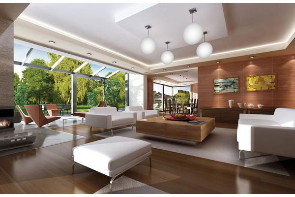 Большой двухэтажный дом в стиле Модерн | Дизайн интерьера Фото №1