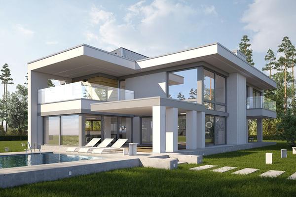 Большой современный дом Элленберг
