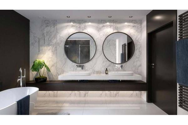 Двухэтажный коттедж с стиле Хай-Тек | Фото дизайна интерьера |  Ванная комната
