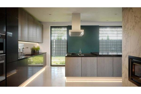 Двухэтажный коттедж с стиле Хай-Тек | Фото дизайна интерьера |  Кухня