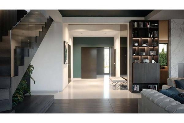 Двухэтажный коттедж с стиле Хай-Тек | Фото дизайна интерьера |  Холл