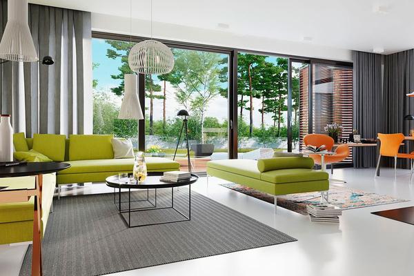 Лорван - современный дом в стиле Барн | Фото интерьера №1