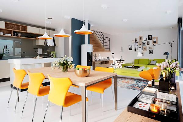 Лорван - современный дом в стиле Барн | Фото интерьера №3