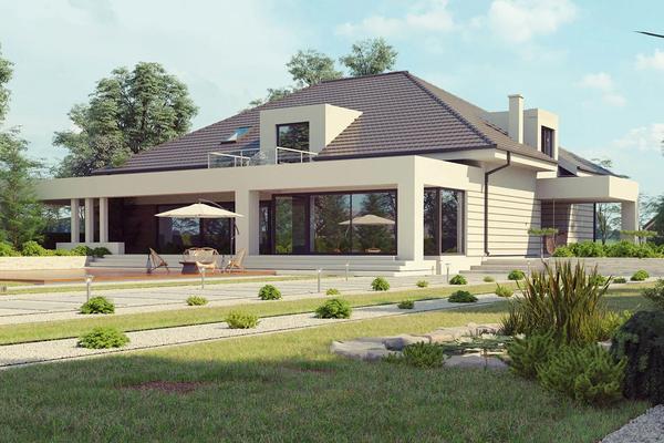 Современный дом с мансардным этажом | Орен