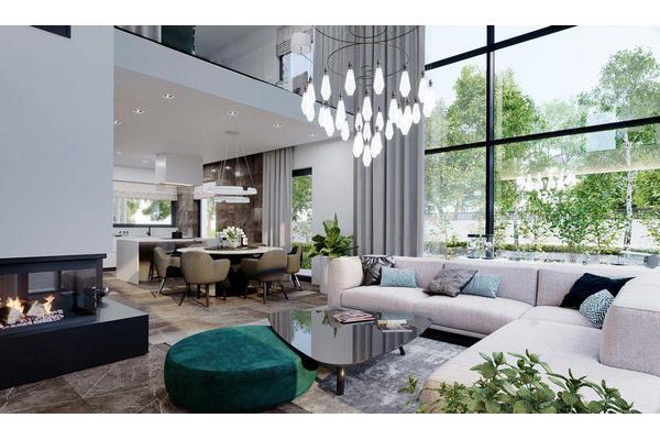 Современный загородный дом | Дизайн интерьера