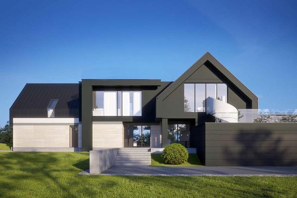 Современный дом в стиле Барн Хаус | Вилар
