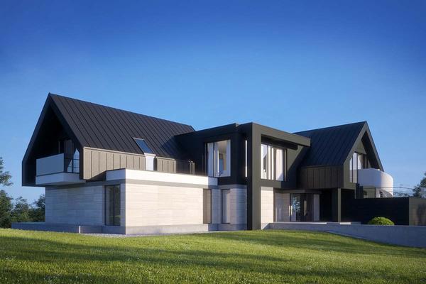 Современный дом в стиле Барн Хаус | Вилар фото №1