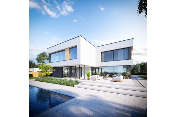 Современный двухэтажный дом с гаражом | Редвуд  Фото №5
