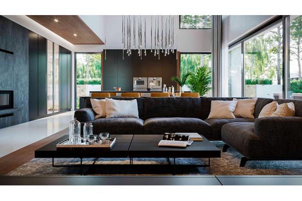 Современный двухэтажный дом с гаражом | Фото интерьера дома №1