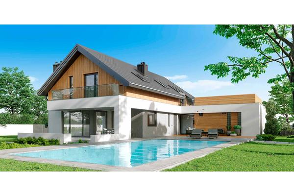 Современный дом с мансардой | Фото №3