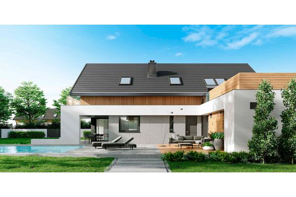 Современный дом с мансардой | Фото №4