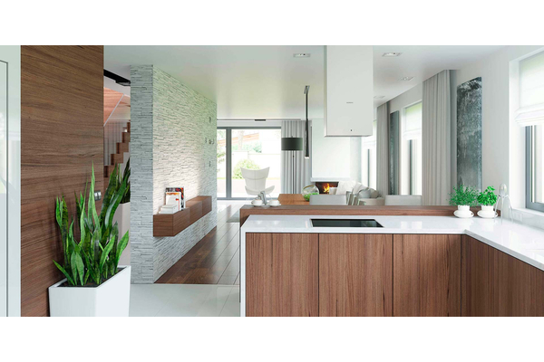Современный дом с мансардой | Фото дизайна интерьера №9