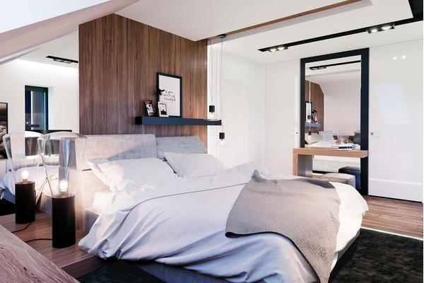 Современный дом с мансардой | Фото дизайна интерьера №12