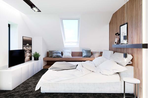 Современный дом с мансардой | Фото дизайна интерьера №13