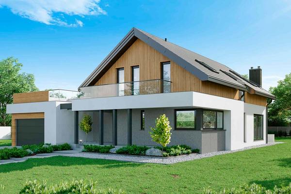 Современный дом с мансардой | Фото №2