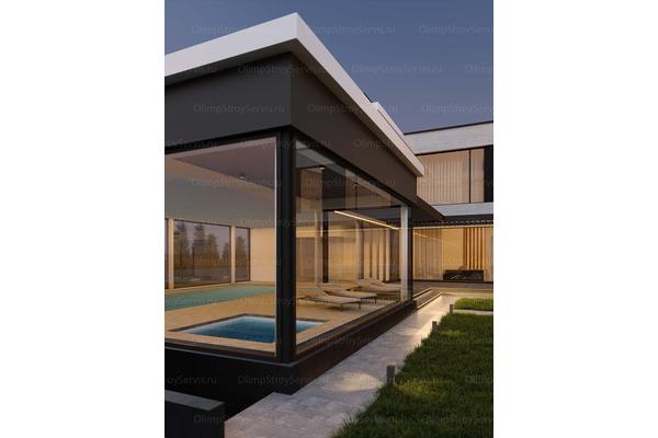 Большой дом с плоской крышей «Лубер» | Фото №13