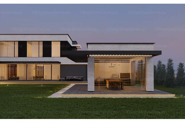 Большой дом с плоской крышей «Лубер» | Фото №15