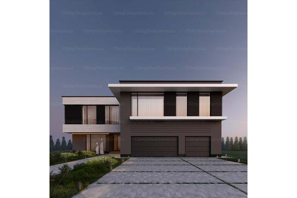 Большой дом с плоской крышей «Лубер» | Фото №2